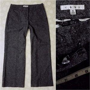 Cabi Speckle Flecked Tweed Pants Sz 8 Trousers